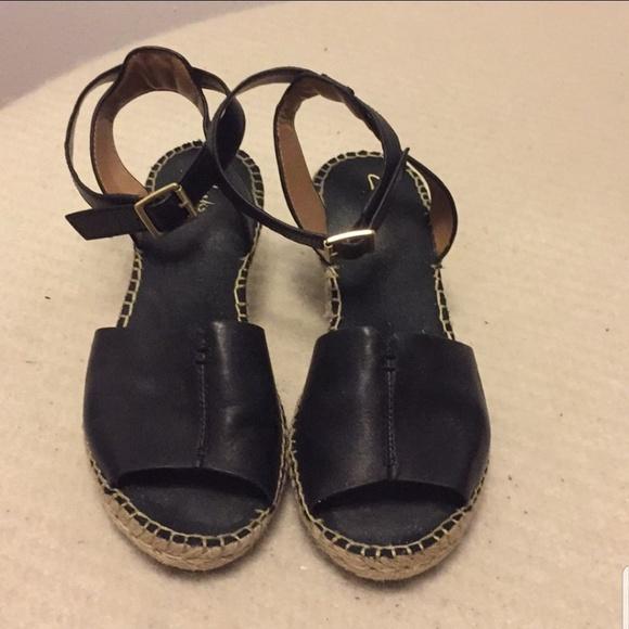 Clarks Shoes - Clark's black wedge sandals